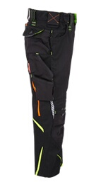 9fd32f20c2723 Pantalon à taille élastique e.s.motion2020,enfants noir/jaune fluo ...