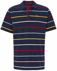 DAVID WILYMS Polo-Shirt marine/gelb