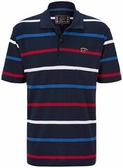 DAVID WILYMS Polo-Shirt gestreift