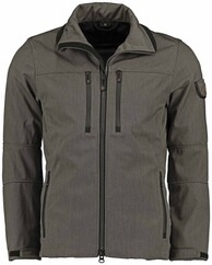 WELLENSTEYN Alpinieri Softshell-Jacke saltpepper