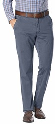CLUB OF COMFORT Flat Front High Stretch Hose blau für Herren
