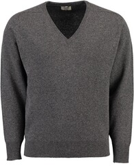 WILLIAM LOCKIE Lambswool Pullover grau
