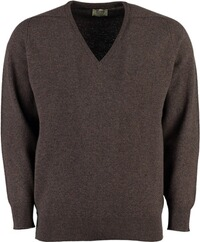 WILLIAM LOCKIE Lambswool Pullover braun