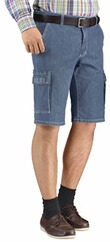 CLUB OF COMFORT High Stretch Cargo Bermuda jeansblau