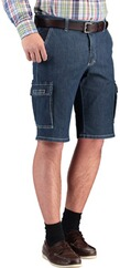 CLUB OF COMFORT High Stretch Cargo Bermuda darkblue