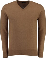 WILLIAM LOCKIE Kamelhaar V-Ausschnitt Pullover beige