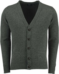 WILLIAM LOCKIE Lambswool Strickjacke oliv für Herren