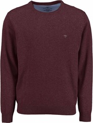 FYNCH HATTON Rundhals Pullover bordeaux