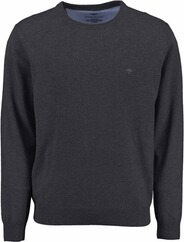 FYNCH HATTON Rundhals Pullover anthrazit