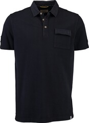camel Polo-Shirt navy