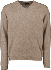 WILLIAM LOCKIE V-Ausschnitt Pullover beige