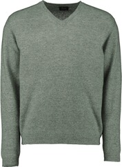 WILLIAM LOCKIE V-Ausschnitt Pullover gru¨n