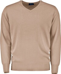 WILLIAM LOCKIE V-Pullover beige