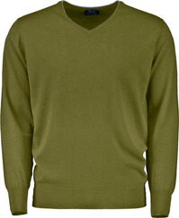 WILLIAM LOCKIE V-Pullover gru¨n