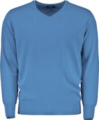 WILLIAM LOCKIE V-Pullover blau für Herren
