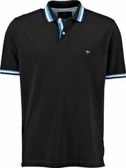 FYNCH HATTON Polo-Shirt schwarz