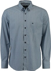 FYNCH HATTON Muster-Hemd Button Down rot für Herren