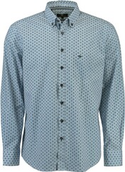 FYNCH HATTON Muster-Hemd Button Down gru¨n für Herren