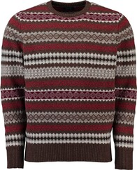WILLIAM LOCKIE Lambswool Norweger Pullover gruen für Herren