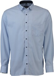 ETERNA Karo Hemd  Comfort Fit Button-Down hellblau für Herren