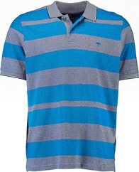 FYNCH HATTON Polo-Shirt blau gestreift für Herren