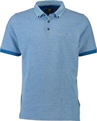 FYNCH HATTON Polo-Shirt hellblau Button-Down-Kragen für Herren