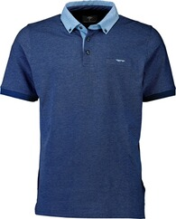 FYNCH HATTON Polo-Shirt marine Button-Down-Kragen für Herren