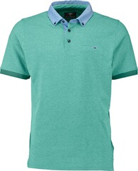 FYNCH HATTON Polo-Shirt grün Button-Down-Kragen für Herren
